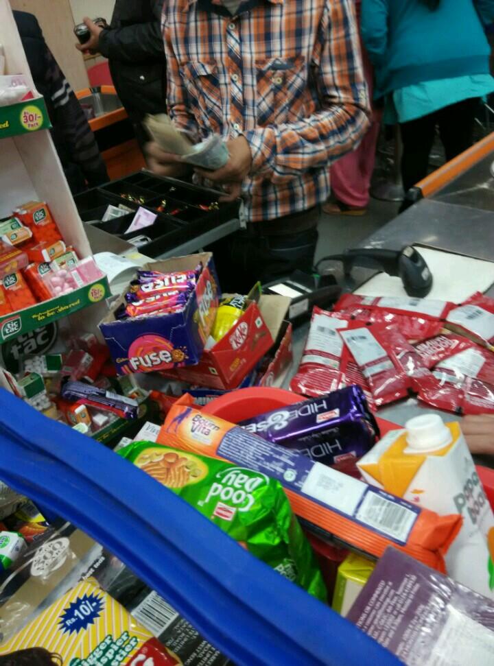 新德里超市收银