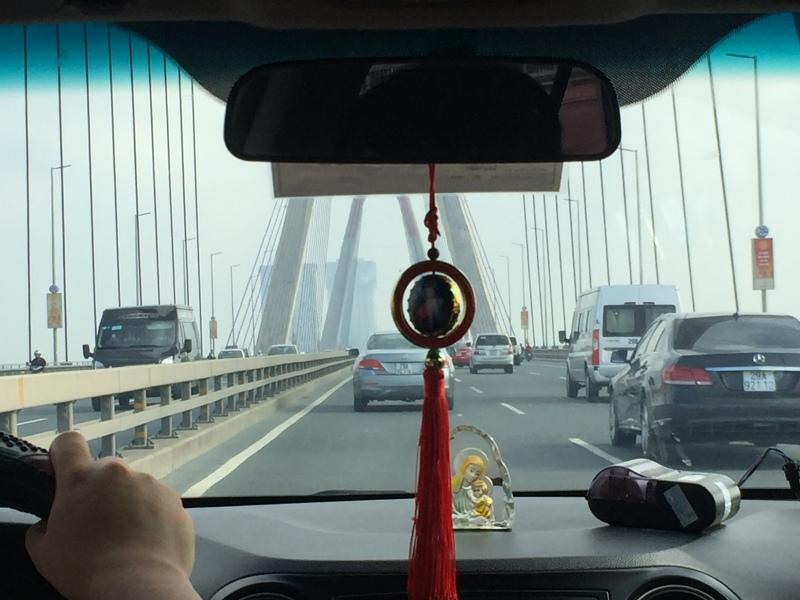 河内机场到市区经过的红河大桥