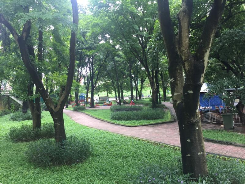 越南红河边的公园