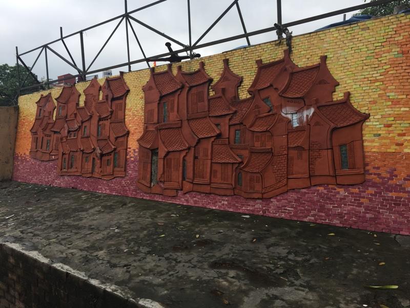 河内街边的壁画
