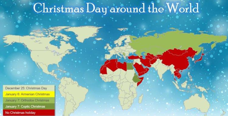不过圣诞节的国家和地区