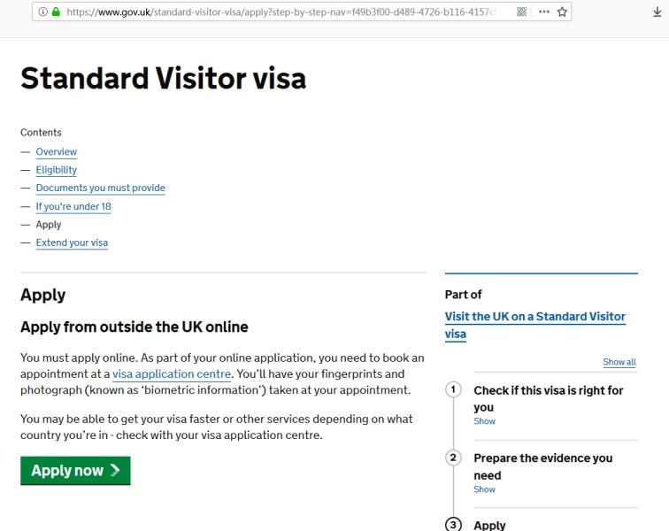 英国签证申请