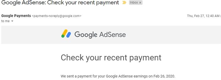 google adsense付款